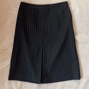 Ann Taylor Pinstripe Pencil Dress Skirt Black 4